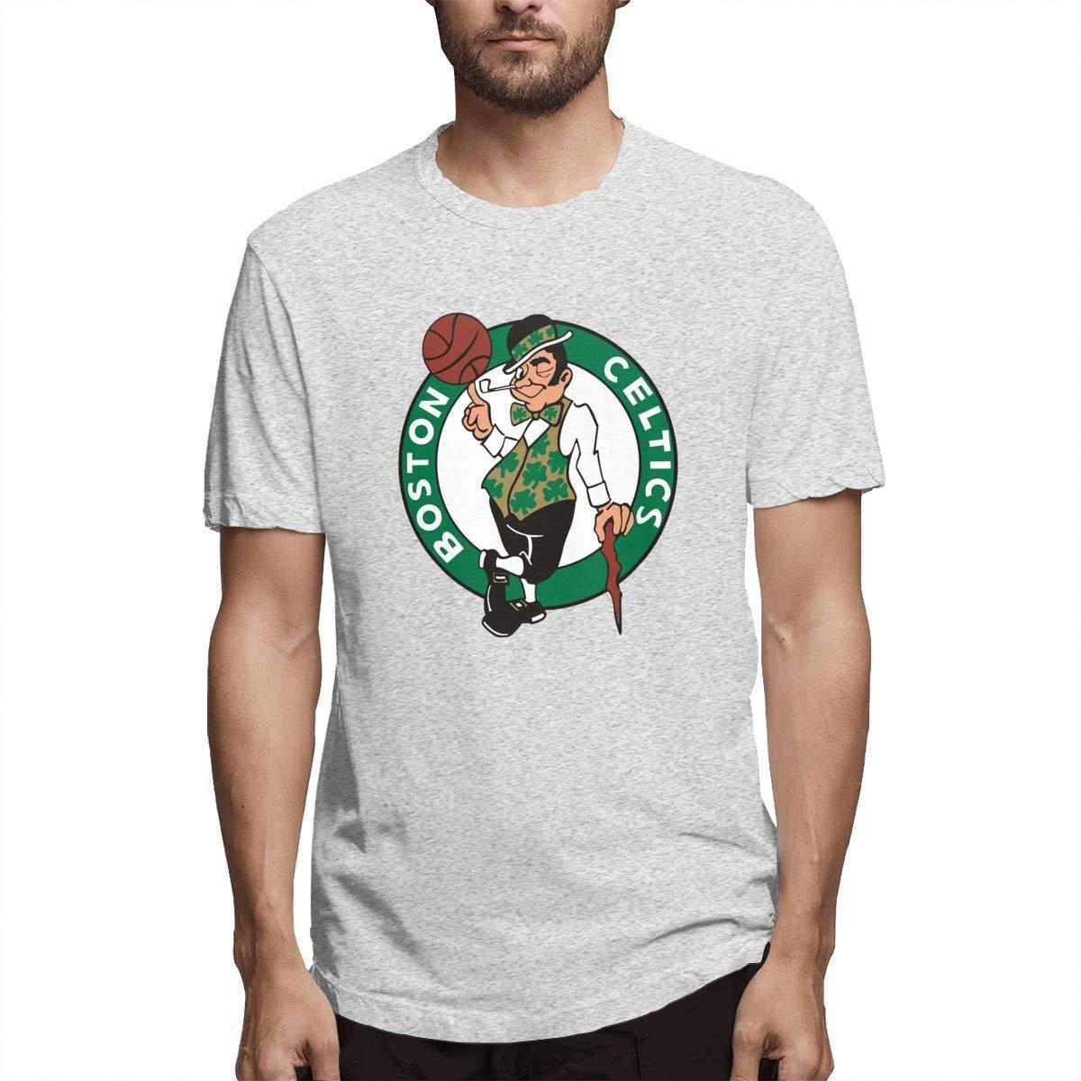 Ambulseek Celtics S Awesome Short Sleeve Tee Gray Shirts