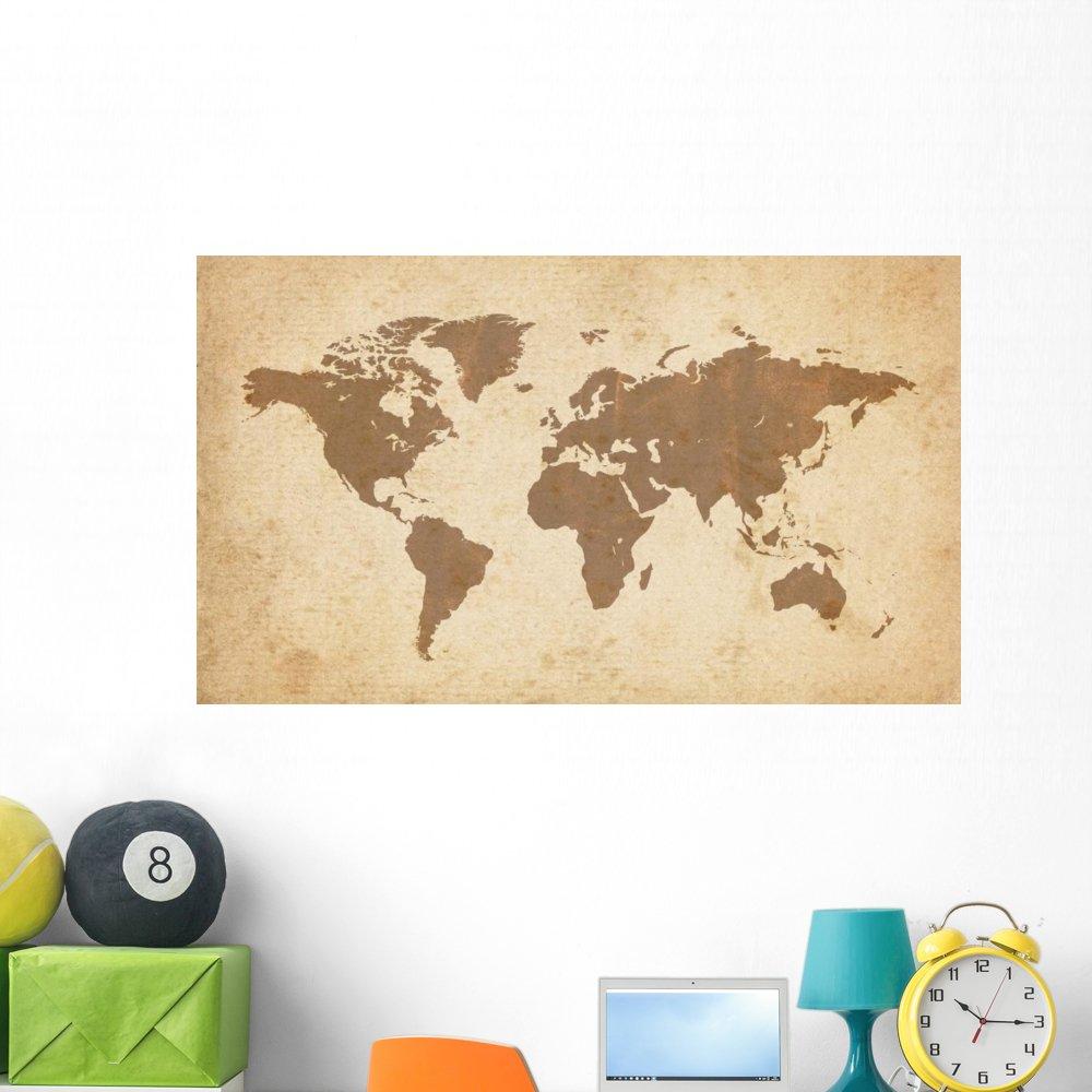 Amazon.com: Wallmonkeys Old World Map Wall Mural Peel and Stick ...