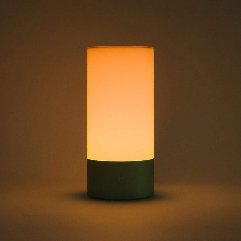 Mijia Nachttischlampe Innen Smart Lichter Touch Control Blautooth Bedlight mit 16 Millionen RGB Lichtfarbe Unterstützung APP Control (Farbe  Gold)