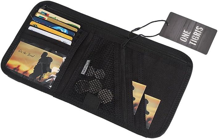 Onetigris 1000d Nylon Sonnenblende Tasche Multifunktions Auto Sonnenblende Visier Aufbewahrungstasche Schwarz Auto
