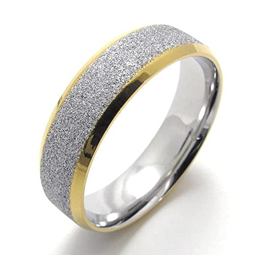 TEMEGO Jewelry Mens Womens Stainless Steel Promise Ring
