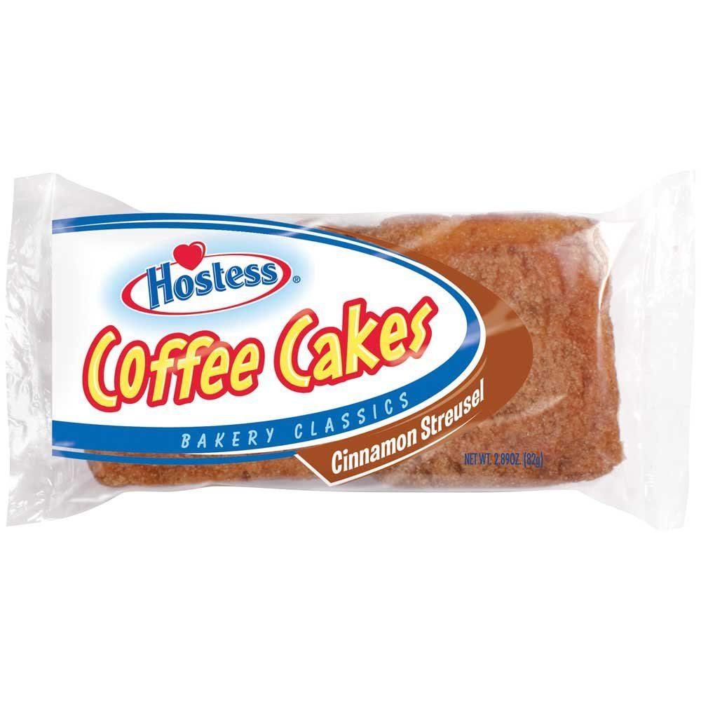 Hostess Cinnamon Streusel Coffee Cake, 2.89 Ounce -- 48 per case.