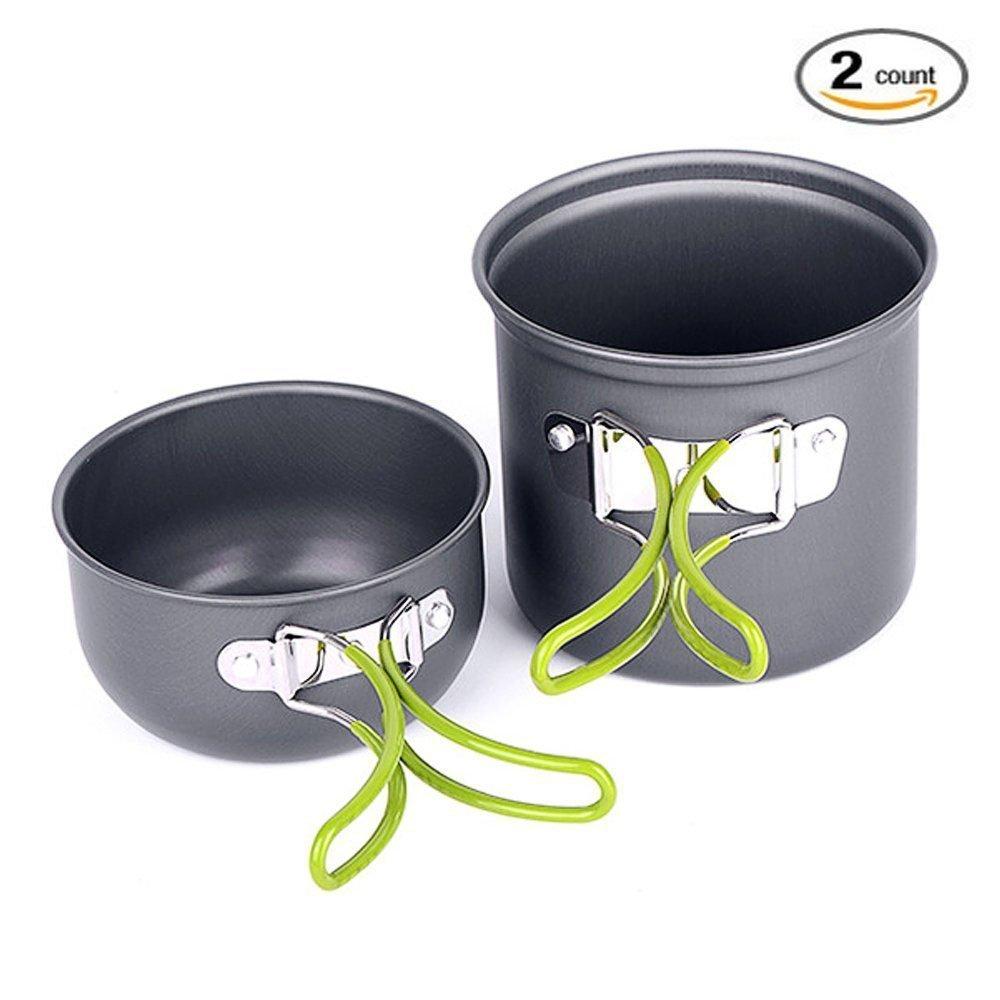 pique-niques etc. YCbingo Lot de 2 casseroles de camping portables id/éales pour les randonn/ées