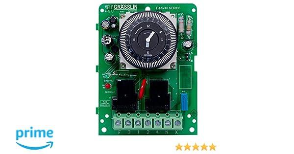 intermatic grasslin dtav40m 120-240v 40a nema3r defrosttmr - wall timer  switches - amazon com