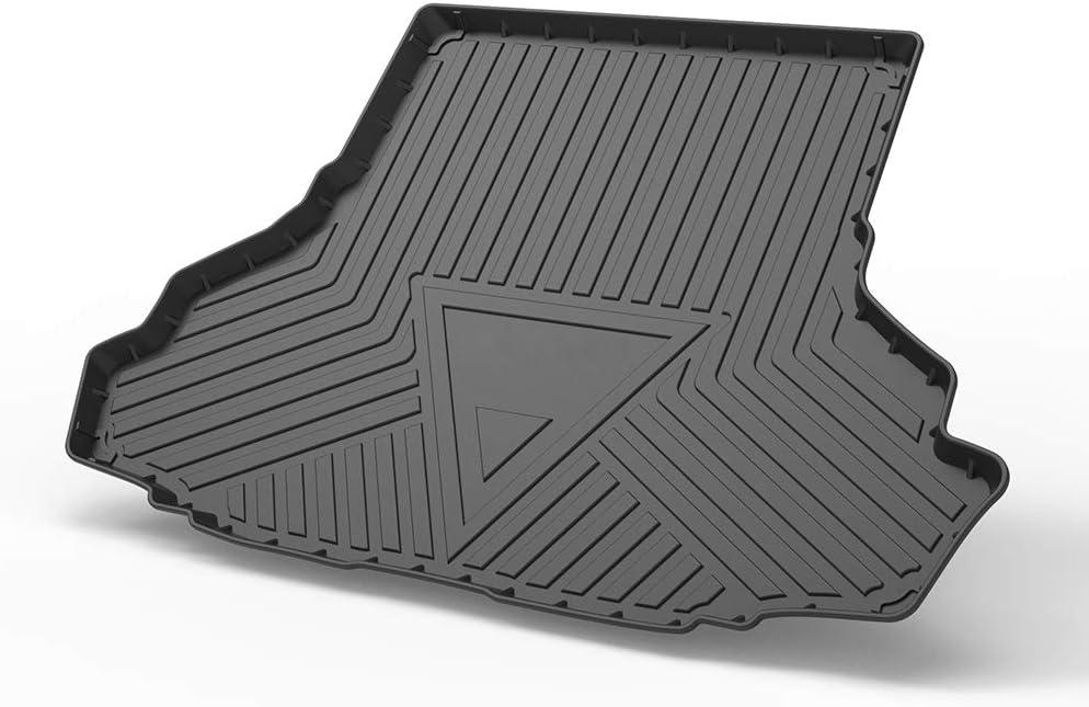 Cqlights Cargo Liner for Mustang 2015-2019 Cargo Cover Mat Trunk Tray Floor Protector Waterproof Rubber Mat