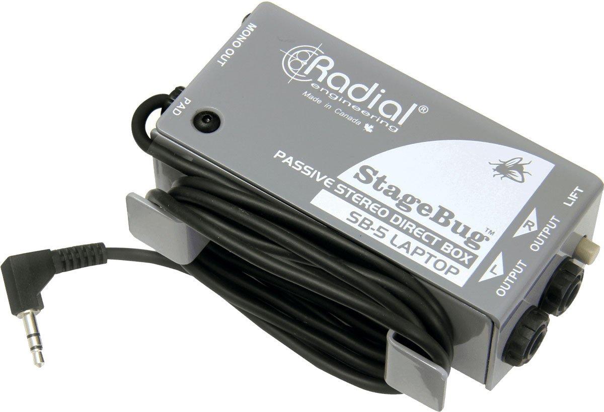 Radial StageBug SB-5 1-channel Passive Laptop Direct Box