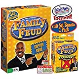 Endless Games Family Feud 5th Edition & Family Feud Strikeout Card Game Deluxe Gift Set Bundle - 2 Pack