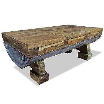 Vidaxl Couchtisch Altholz Retro Tisch Beistelltisch Wohnzimmertisch