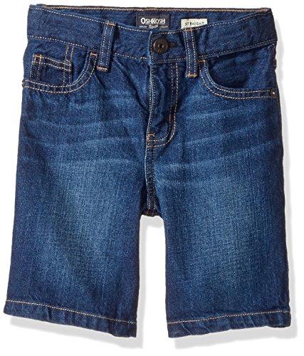 OshKosh B'gosh Boys' Short 21787411, Denim, 4T - Waist Jean Adjustable Shorts