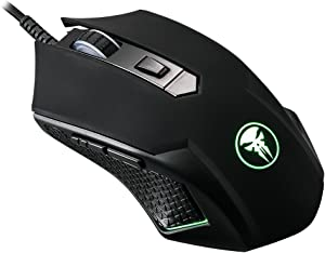 GT Gaming Mouse Wired [Breathing Light] Ergonomic Game USB Computer Mice RGB Gamer Desktop Laptop PC Gaming Mouse, 7 Buttons for Windows 7/8/10/XP Vista Linux, Black