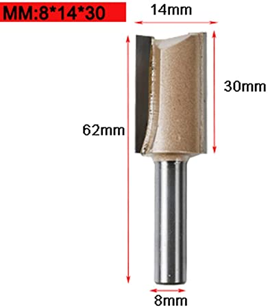 """For Wood Cutting . Carbide 8mm Shank Straight Router Bit Milling Tool 1//8/"""" Dia"""