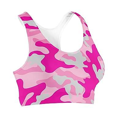 Camouflage Hot Pink Sports Bra Sport-BH XS-3XL: Amazon.de: Bekleidung
