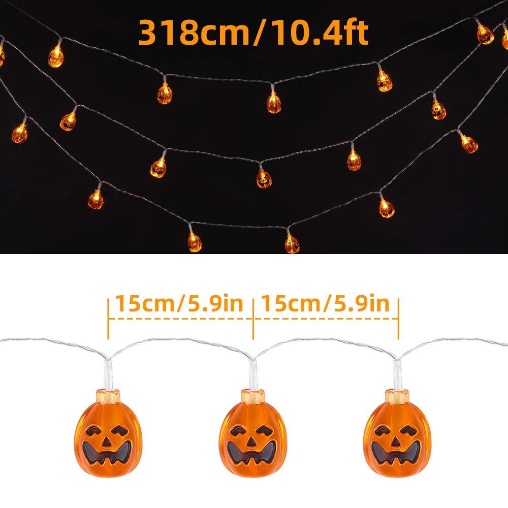 3 Tiers Pumpkins OUSFOT Halloween Pumpkin Decorations Outdoor Indoor 3 Tiers Design Large Pumpkin Set Halloween Decor for Halloween Home House Kitchen Harvest Party