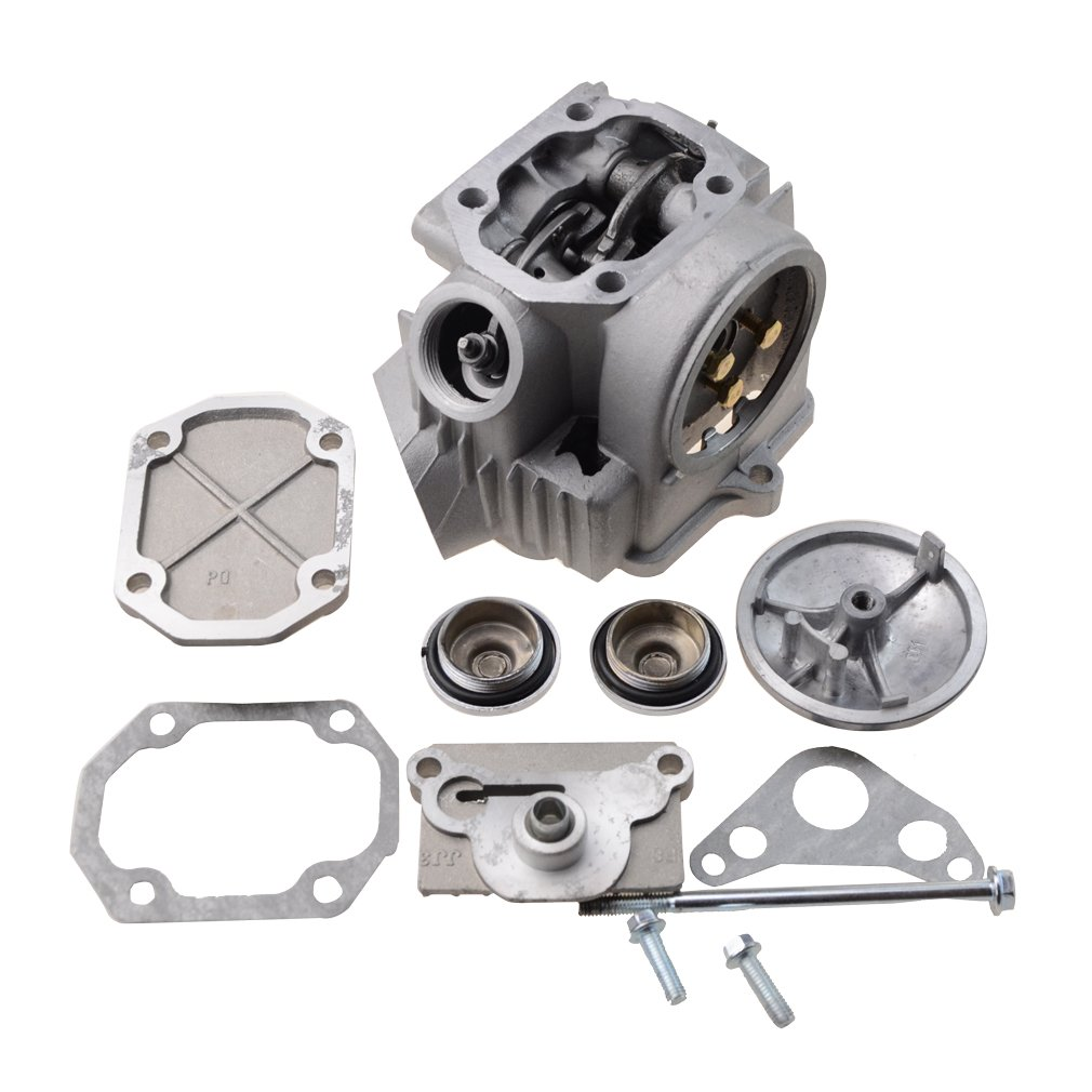GOOFIT 52.4mm Cylinder Head Assembly for 4 Stroke 110cc ATV Go Kart Scooter K074-078