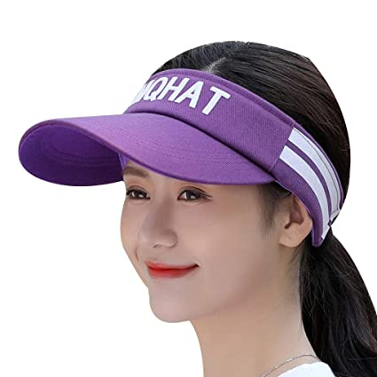 Amazon.com  MuLuo Sports Wide Brim Caps Letters Visor Sun Cap Hat  Adjustable Tennis Men Women Wearing Baseball Hats  Arts 33fb5820803
