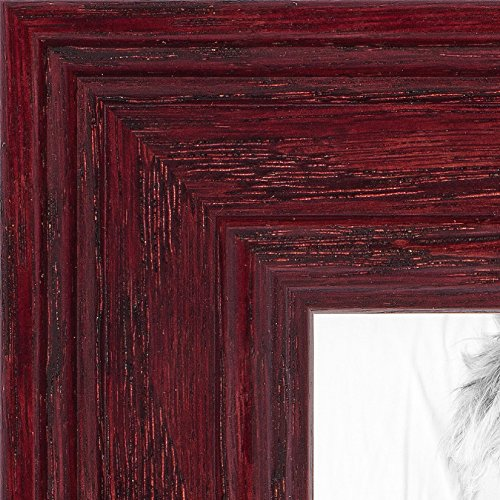 ArtToFrames 16x21 inch Cherry Stain on Solid Wood Wood Picture Frame, - 21 Cherry Inch