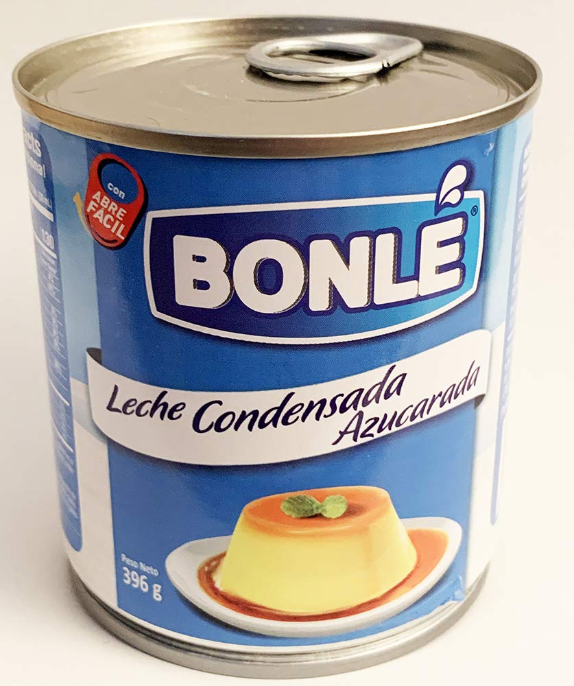 Amazon.com : Bonle Sweetened Condensed Milk 14oz (1 can) Leche Condensada Azucarada : Grocery & Gourmet Food