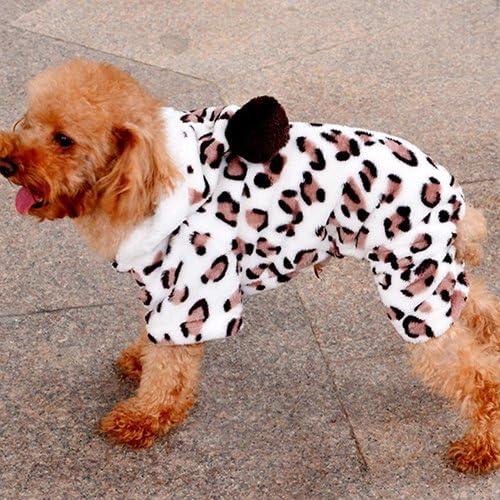 Leopard Warm Winter Pet Dog Puppy Clothes Hoodie Jumpsuit Pajamas Outwear Feli546Bruce Pet Clothes