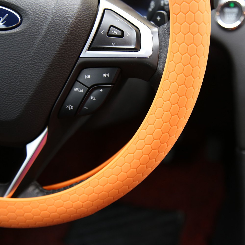 VIOLA Coprivolante per Auto in Silicone Universale Diametro 34 cm Volante Fiat Nissan Alfa Romeo Peugeot Renault Audi Ford Opel Citroen Hyundai LAGE