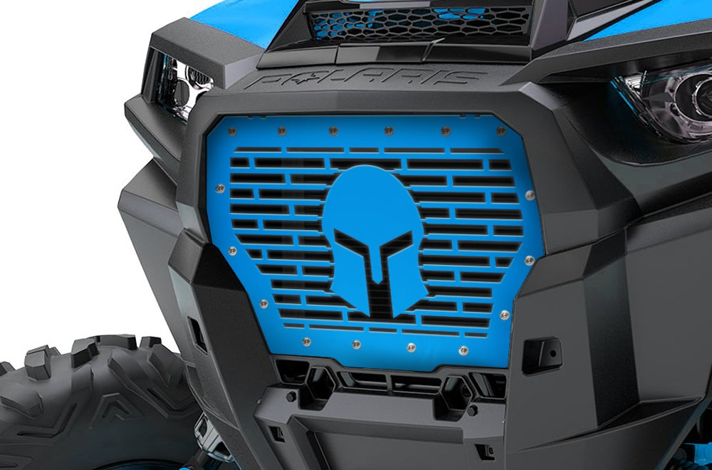 Single Piece Powder Coated RZR Velocity Blue UTV Grill SPARTAN 300 Industries Full Replacement Steel Grille for 2017-2018 RZR 1000 XP Turbo MADE IN USA