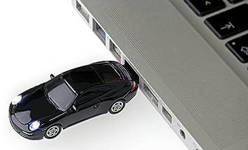 Autodrive Porsche 911 Carrera S USB Stick 4 GB USB 2.0 Negro: Amazon.es: Informática