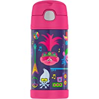 Thermos Funtainer Stainless Steel Bottle, Trolls, 12 Ounce