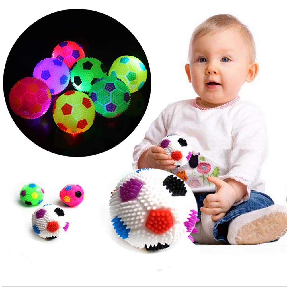Anniston Kids Toys LED Flashing Bouncing Music Hedgehog Soccor Ball Football Squeeze Kids Toy Gift Classic Toys for Baby Children Toddlers Boys /& Girls Random Color