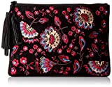 LOEFFLER RANDALL Tassel Pouch Embroidered Suede Clutch