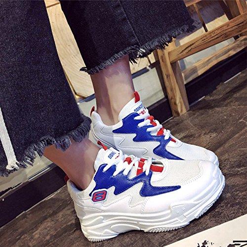 Primavera De Virtudes azul Zapatos En Correr La Campaña Zapatos Mujer Actual GAOLIM Para De Viejos El pzFW8qSq0