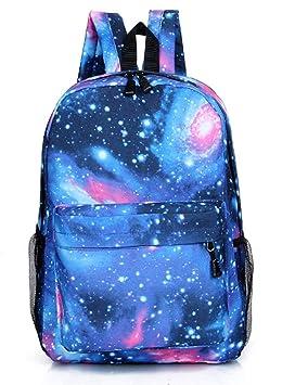 Lounayy Galaxy Mochila Mochila para Niños Unisex Moda para Mujer Mochila Escolar para Adultos Mochila para Niños Mochila Escolar Viajes De Ocio Bolsos ...