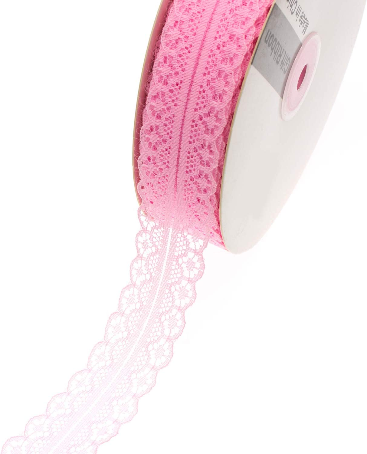Handicraft and Gift Package Wrapping,49 Yards//Roll Pink ATRBB 49 Yards 1.18 Wide Polypropylene Fiber Lace Trim Ribbon for Flower Decoration Designing