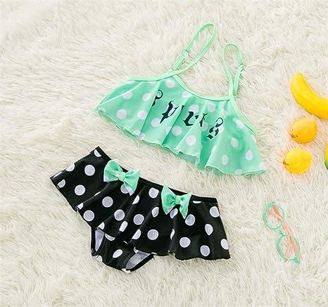 51322b49ad17 HUXINFEI Bikini para niños Traje de baño para niñas Bañarse Traje de ...
