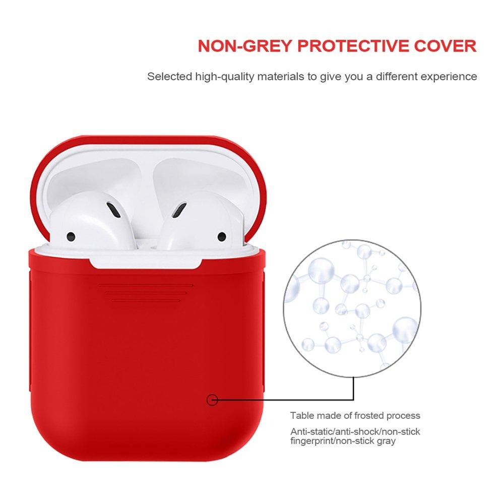 GerTong astuccio Apple airpods custodia protettiva in silicone per Cuffie con protezione A prova di urti con silicone airpods verde verde