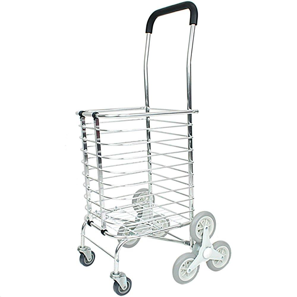 ショッピングカート 三輪キャスター 階段昇降 軽量 アルミ製 折りたたみ式 B0065AAWRU