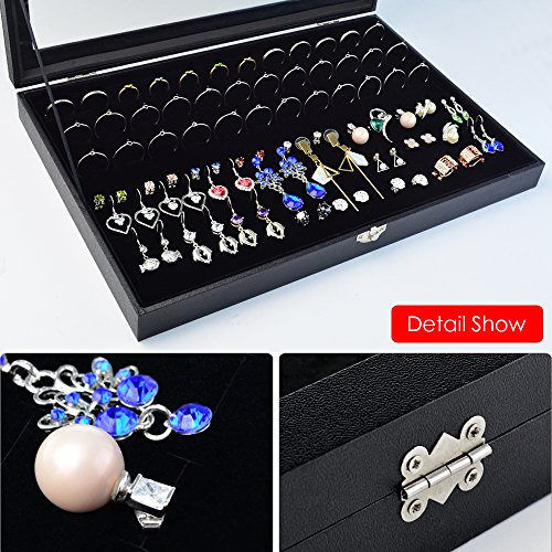 72 Slot Jewelry Ring Box Case Storage Tray Organizer for Import It All