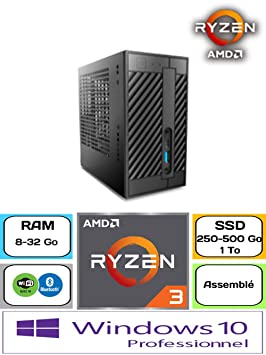 Asrock Deskmini A300 / Ryzen 3200 G/Windows 10 Pro / 250 GB SSD ...