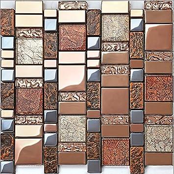 Fliesen Mosaik De Luxe Harz Glas Glasmosaik Meliert Furnier Glas Glasmosaik  Die Fliesen Mosaik