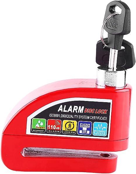Waterproof Disc Brake Alarm Lock Scooter Motorcycle Bicycle Anti-theft Disc Brake Lock Security Alarming System Yellow