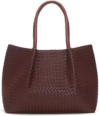 Amazon Com Lulu Dharma Napa Vegan Leather Tote Burgundy Wine Shoes