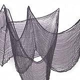 Benran Halloween the Creepy Cloth Party Decor Drape Doorways Entryways Windows Cover Gauze 5 Yards X 30