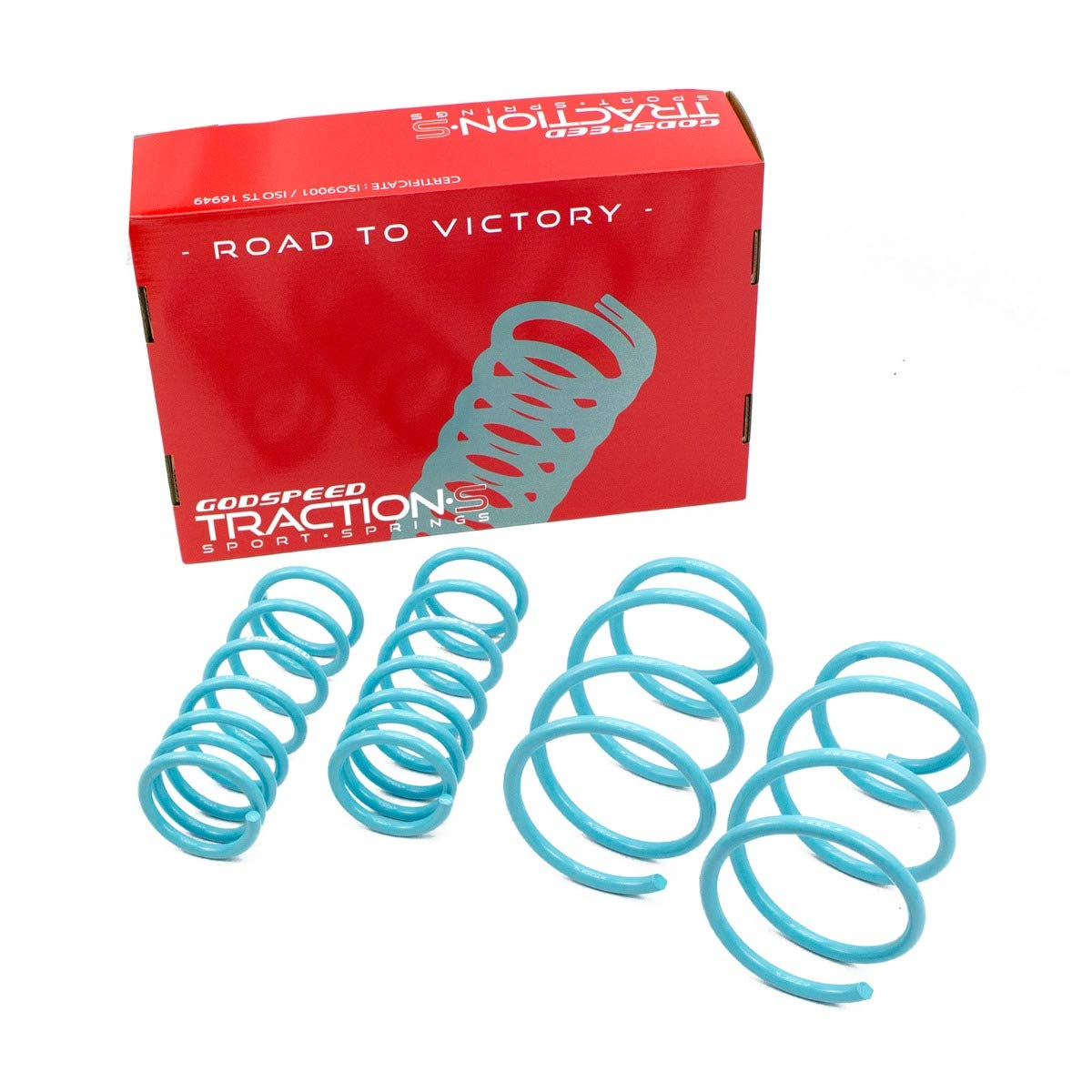 Reduce Body Roll Set of 4 Improved Handling Godspeed LS-TS-SU-0007-A Traction-S Performance Lowering Springs