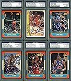 1986 Fleer Basketball Autographed Complete Set - 143 Autographed Cards - PSA/DNA Authentic