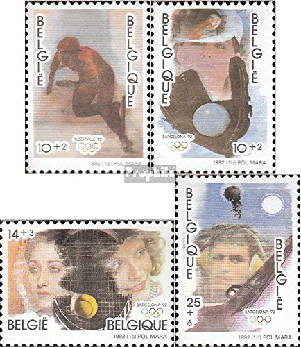 1992 Games Olympic (Belgium 2491-2494 (complete.issue.) 1992 Olympics Games (Stamps for collectors) Olympic games)