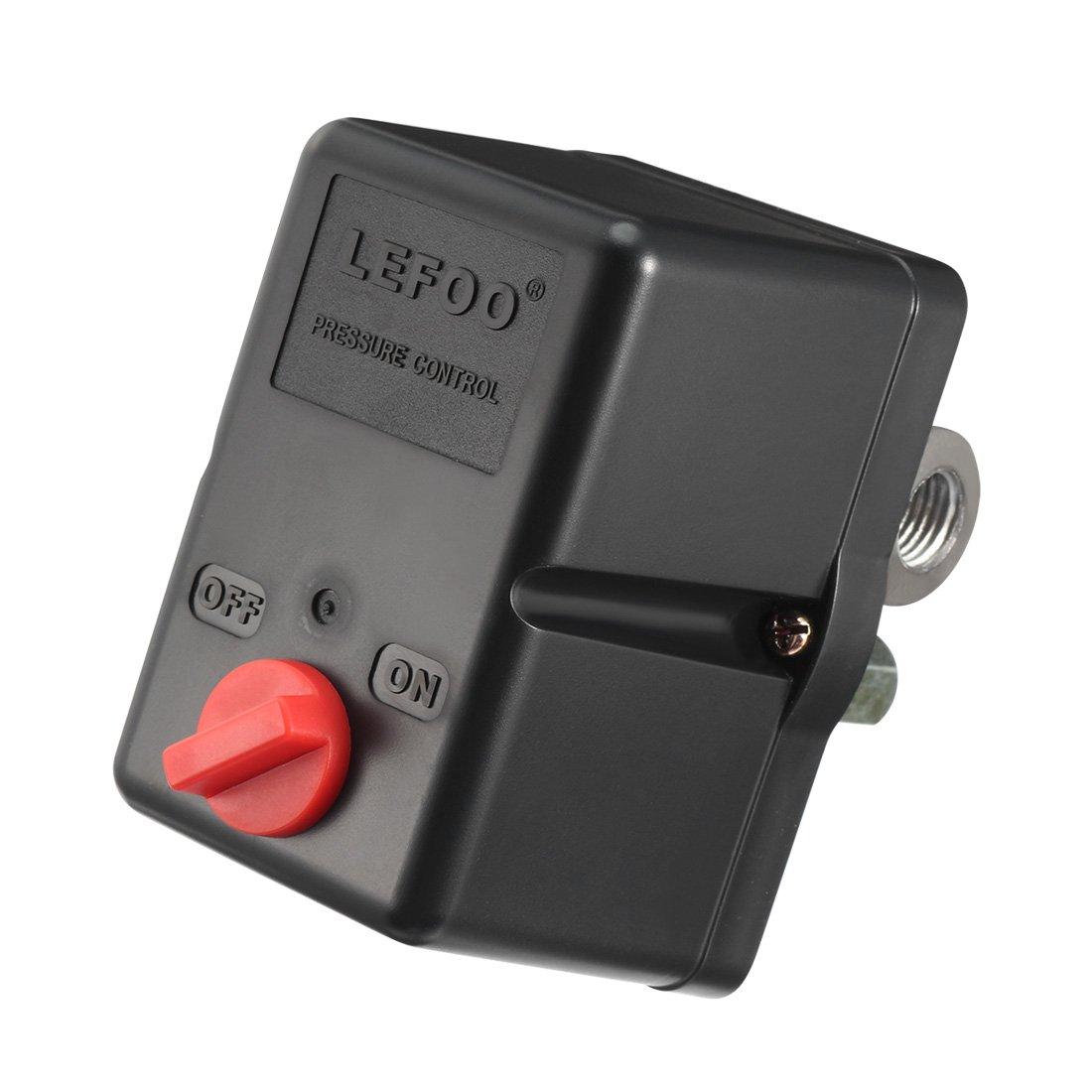sourcingmap 240V 29-58psi 4 Porta Famele compressore aria Interruttore a pressione valvola controllo sourcing map a17061300ux0142
