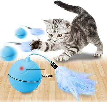 Wanfei Juguetes para Gatos Interactivos,Carga USB Automática Bola ...
