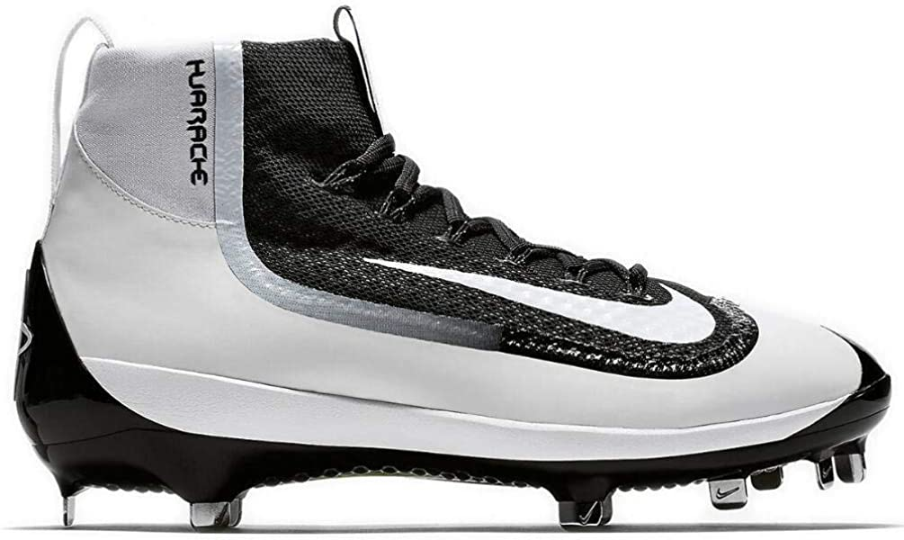 competitive price 89b19 1518a Nike Mens Air Huarache 2kfilth Elite Mid Metal Cleats 8 US BlackWhite