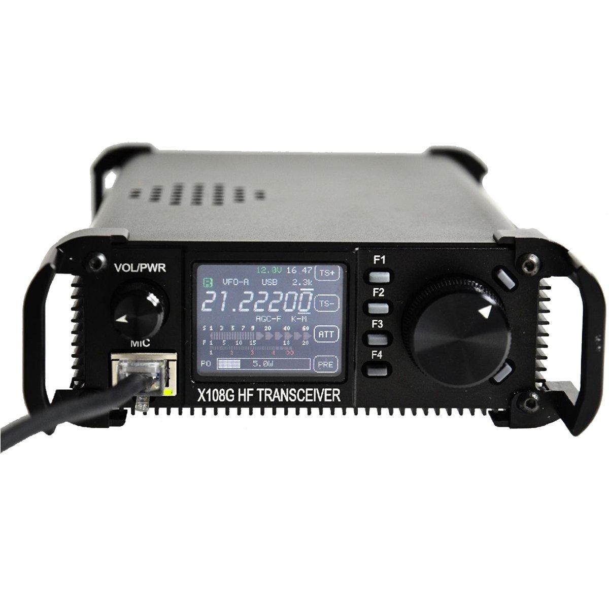 Xiegu X 108g Qrp Transceiver Outdoor Version 9 Bands Am Cw Ham Transmitter Ssb 1 20 Watts Black Cell Phones Accessories