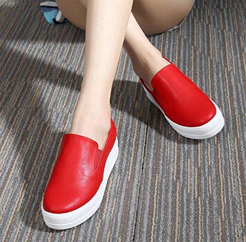 scarpe ascensore Ms. primavera scarpe single focaccina delle donne dal fondo pesante scarpe piane scarpe casual , US6.5-7 / EU37 / UK4.5-5 / CN37