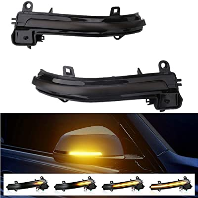 Smoked Side Mirror Sequential LED Turn Signal Lights for BMW 1/2/3/4 Series F20 F33 F30 F32 X1 i3 (BMW Signal Light): Automotive
