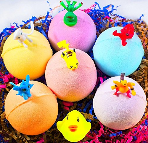 Price comparison product image Kids Bath Bombs / Bath Fizzies - Bath Bombs Handmade in USA - Fizzy Bath Bomb Kit - Multicolored Bubble Bath Bombs - Natural and Safe Bath Bomb Set with Fun Toys Inside - Organic Gift for Girls & Boys